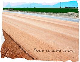 Foto suelo cemento in situ