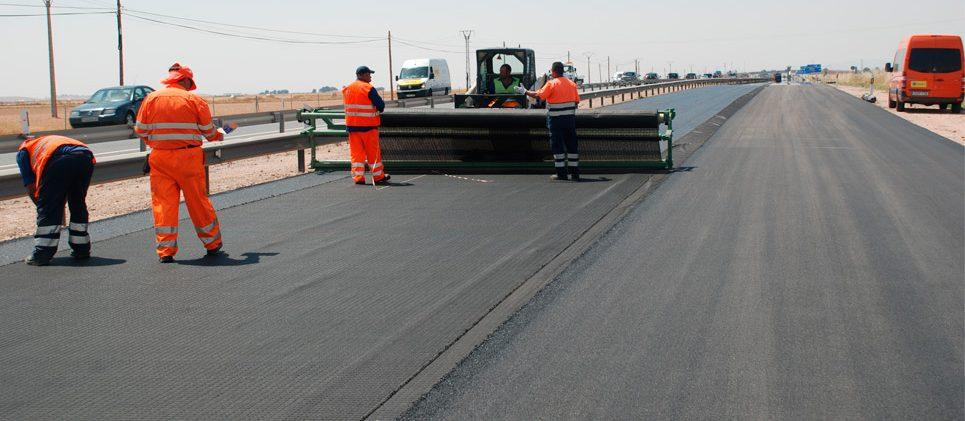 Autovía A-4 (Toledo) - Reparación de firme de hormigón. Colocación Geomalla antifisuras