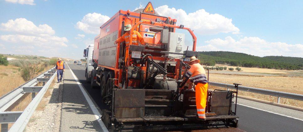 Autopista Radial 4 (Madrid) - Microaglomerado en frío / lechada bituminosa