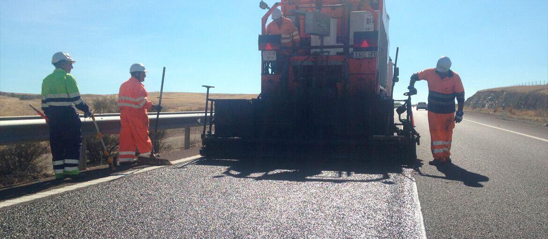 Carretera A-66 (Badajoz) - Microaglomerado en frío / lechada bituminosa